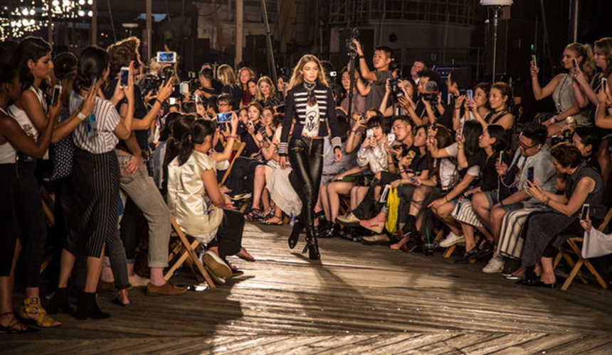 Cat walk from Tommy Hilfiger Fashion Show